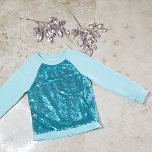 CAT & JACK Blue Sequin Sweater Shirt/ 3 for $25